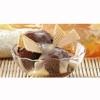 Морозиво шоколадне з коньячним соусом і вафлями (Китай)
